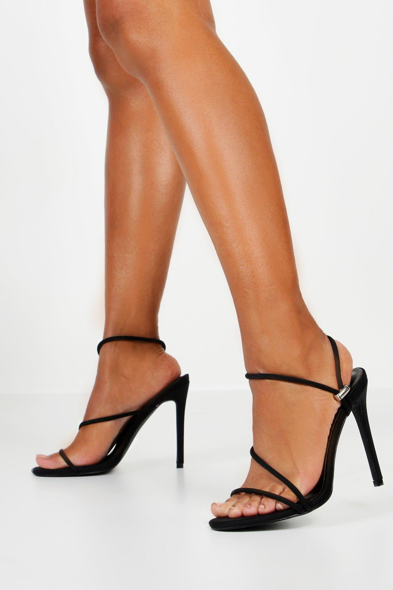 Boohoo Womens Toggle Pull Strappy Heels