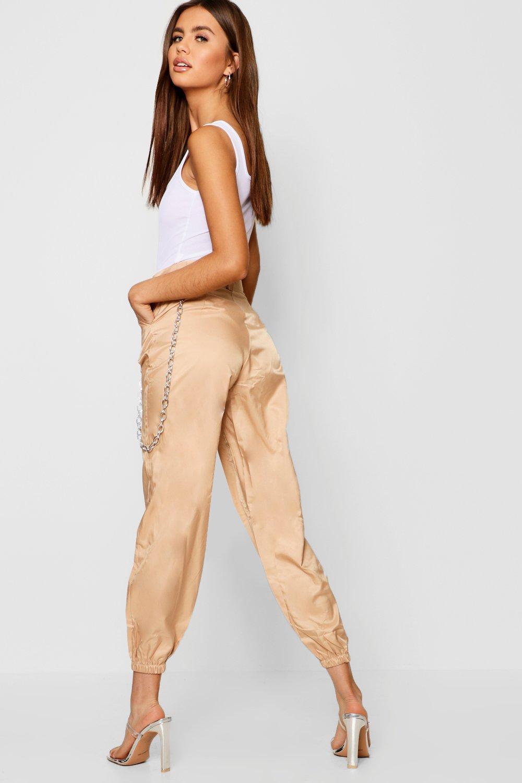 7de39addcfca Boohoo - Multicolor Satin Chain Detail Cargo Trousers - Lyst. View  fullscreen