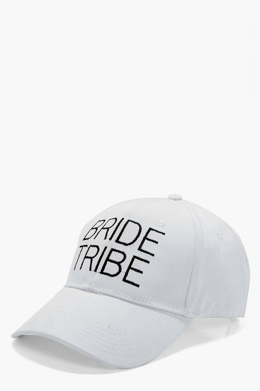 df556170292 Lyst - Boohoo Olivia Bride Tribe Slogan Hat in White
