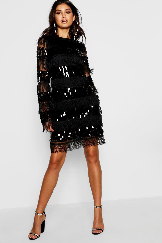 5ffb46a556d Boohoo Floral Tassel Long Sleeve Midi Dress - Gomes Weine AG