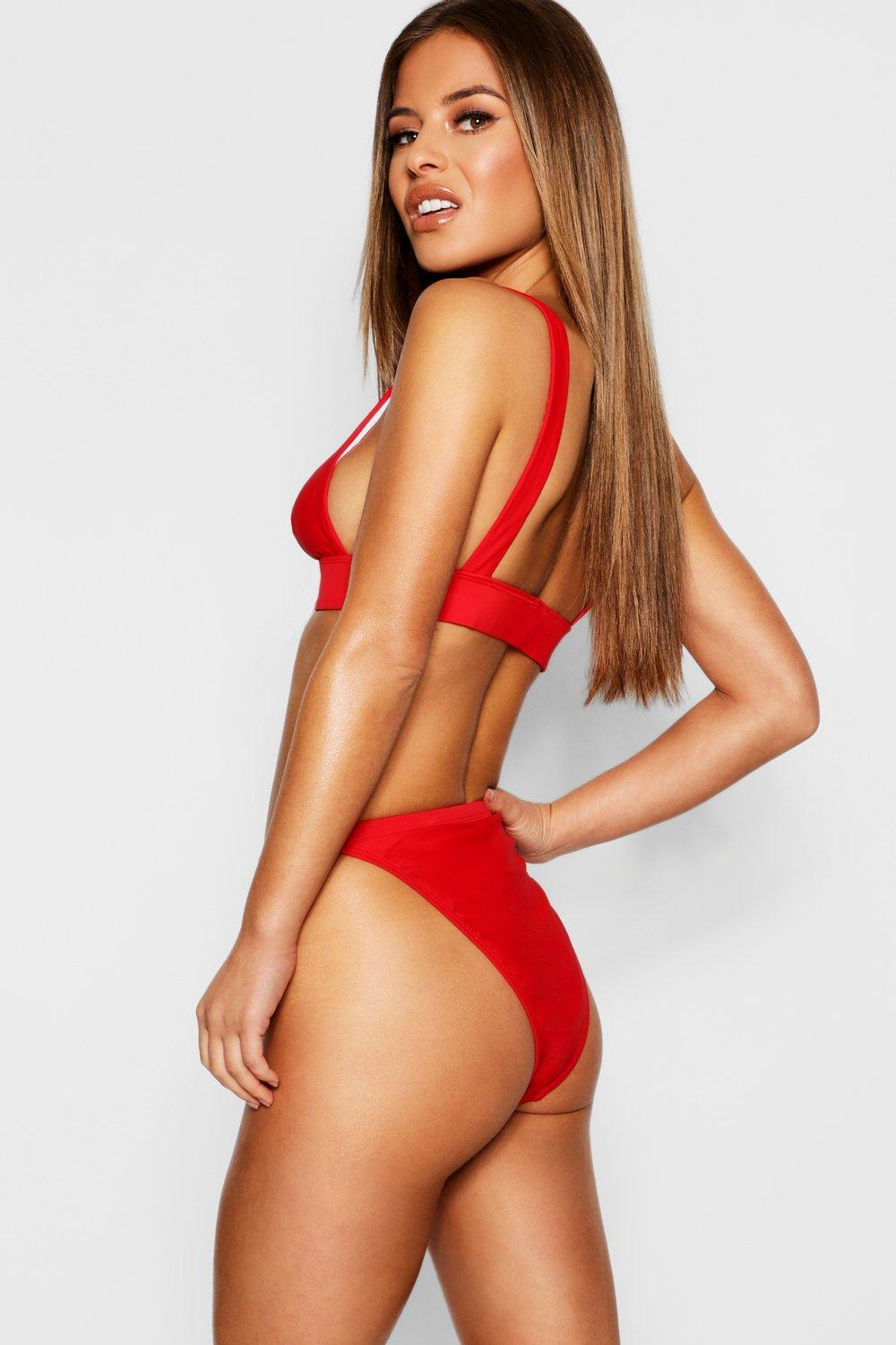 74d7d70b020cf Lyst - Boohoo Petite Mix & Match High Waisted Bikini Bottom in Red