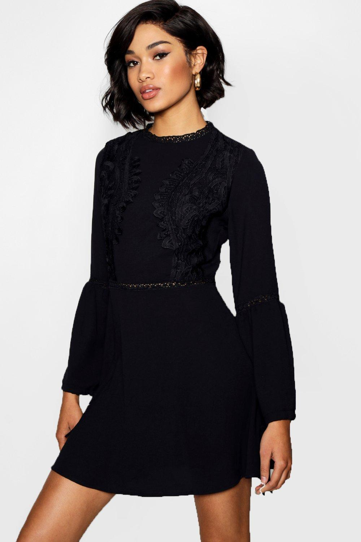 73571afc05b4 Black Strappy Skater Dress Uk