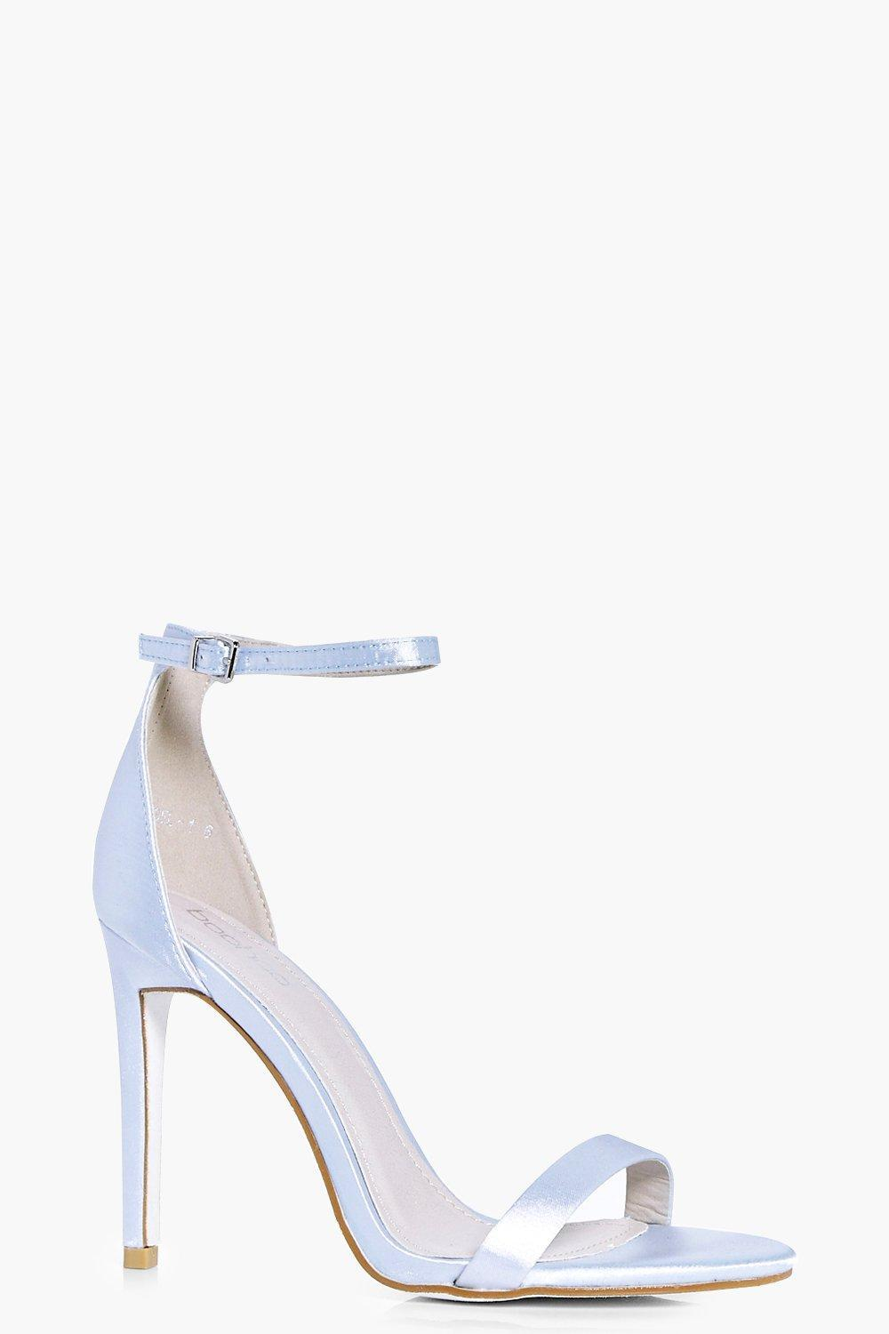 b4afabd3e01 Boohoo Rosie Bridal Satin Glitter Sole Two Part in Blue - Lyst