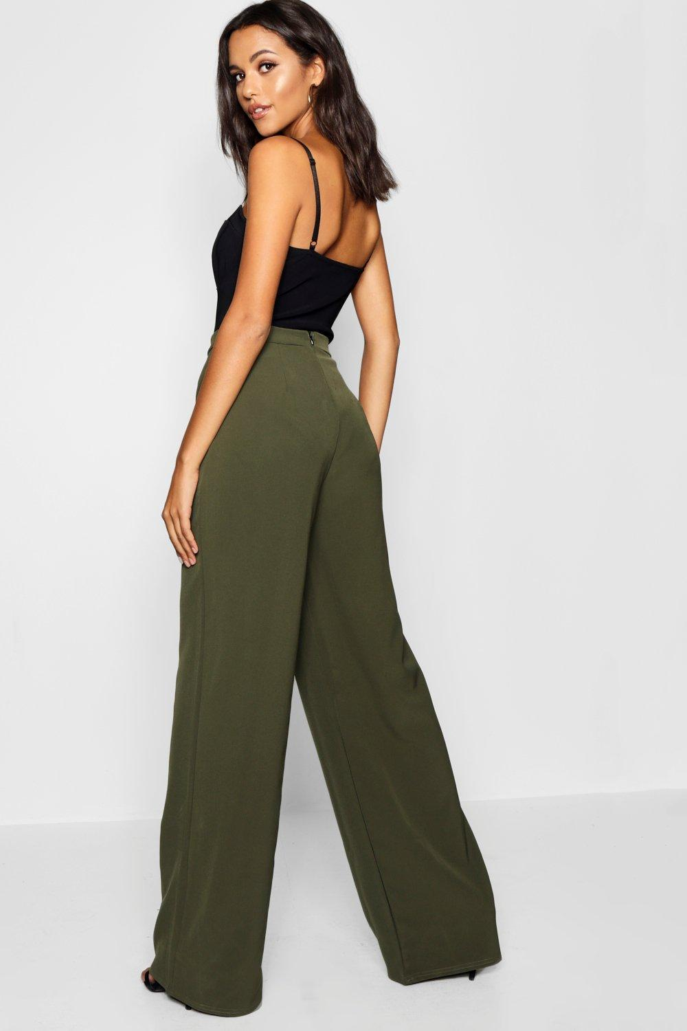 5aa9247158903 Boohoo - Multicolor Tall High Waisted Woven Wide Leg Pants - Lyst. View  fullscreen