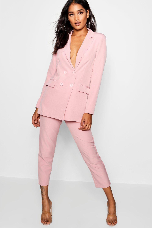 fb4f8e8622c5 Lyst - Boohoo Straight Leg Pocket Detail Trousers in Pink