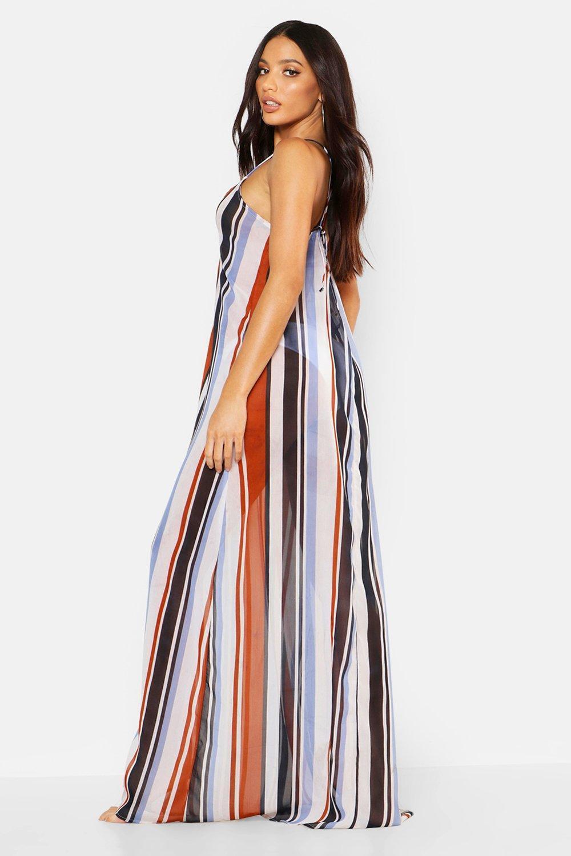 1c8098f77d61 Boohoo - Multicolor Stripe Beach Maxi Dress - Lyst. View fullscreen