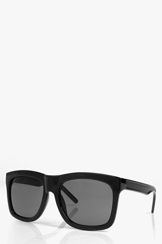 Boohoo Diana Square Frame Fashion Glasses in Black for Men