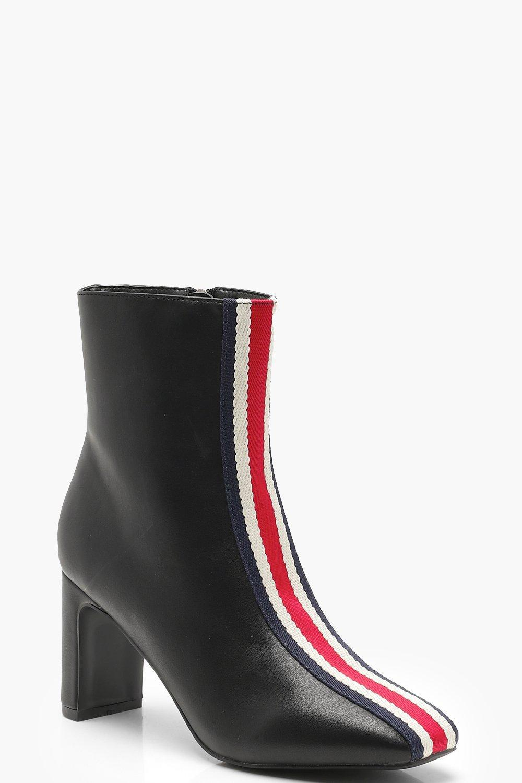 b760ba1a23d5 Boohoo Sports Stripe Ankle Shoe Boots in Black - Lyst