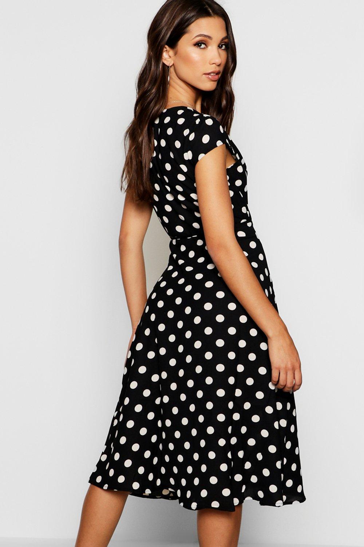 375e761673a52 ... Boutique Polka Dot Wrap Dress - Lyst. View fullscreen