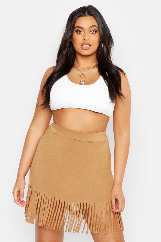 426fa41390b89 Boohoo. Women's Plus Tassel Beach Skirt