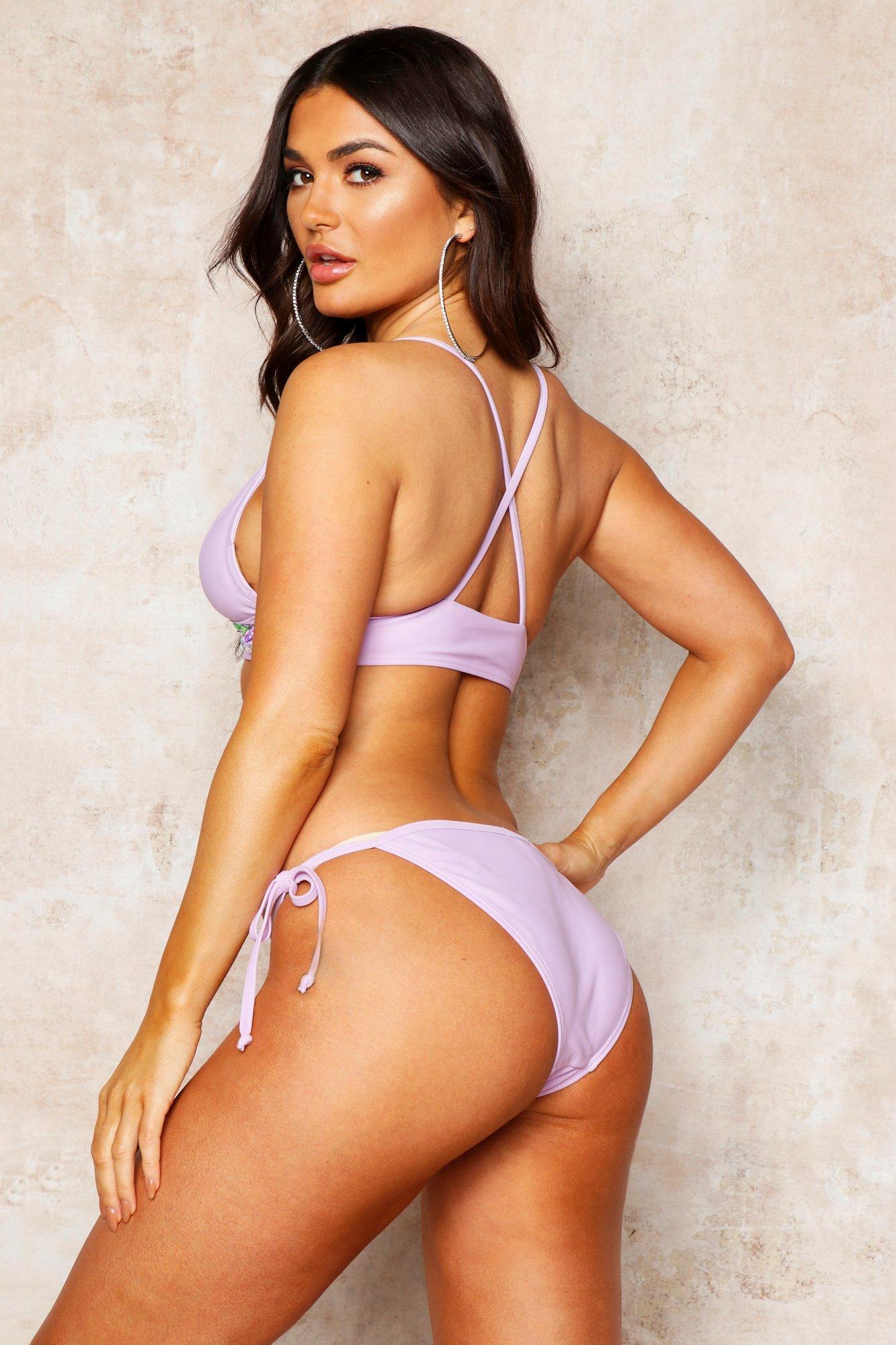 2d22b8b37942 Boohoo - Multicolor Premium Mix & Match Jewelled Cross Back Bikini Top -  Lyst. View fullscreen