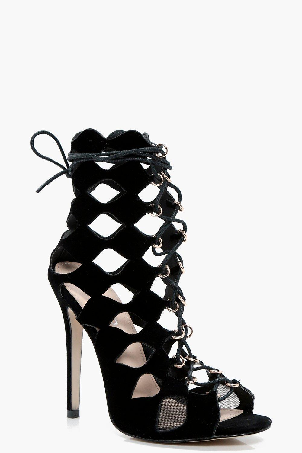 Zoe Cage Ghillie Lace Up Heels GA5Rqpdd