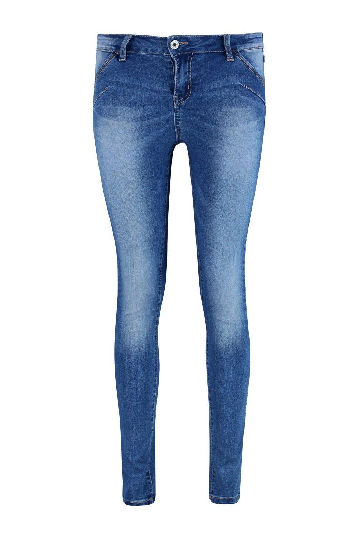 Boohoo Lyndsay Skinny Denim Jeans in Blue