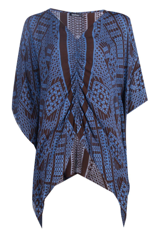 Boohoo Victoria Geo Print Kimono