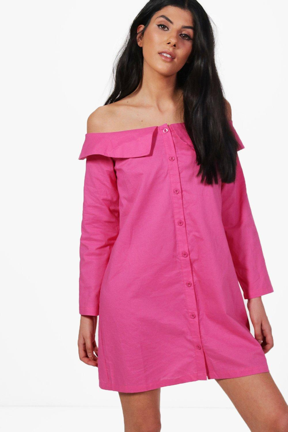 4258b35e22f8 Gallery. Previously sold at  Boohoo · Women s Off The Shoulder Dresses ...