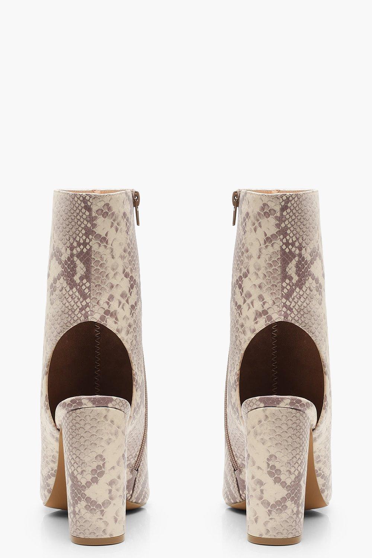 21e7763c8f21 ... Extra Wide Fit Croc Peeptoe Shoe Boots - Lyst. View fullscreen
