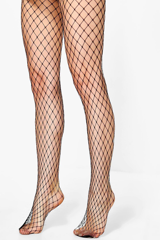 45f1f9f417224 Boohoo Phillipa Large Net Fishnet Tights in Black - Lyst