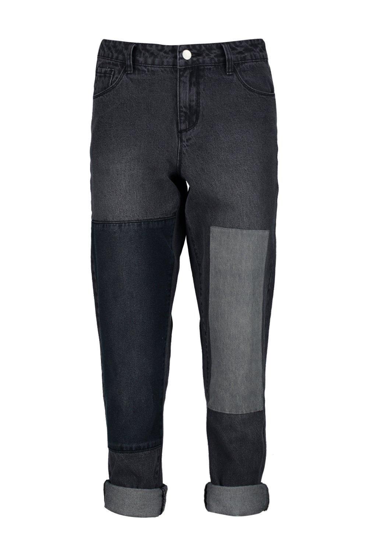 Boohoo Denim Alice Patchwork Boyfriend Jeans
