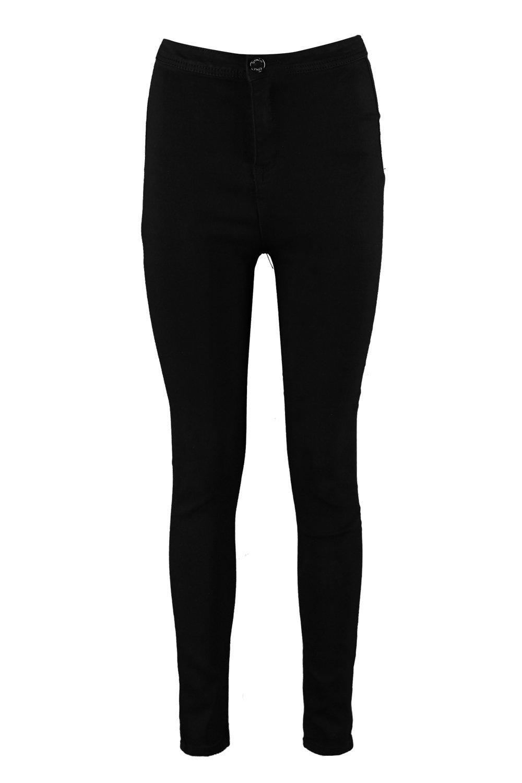 Boohoo Lara High Rise Denim Tube Jeans in Black
