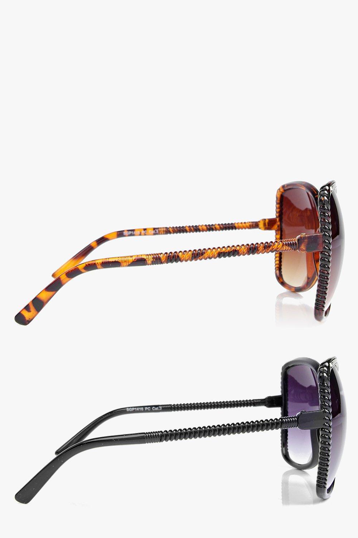 Boohoo Julia Oversized Frame Sunglasses 2 Pack