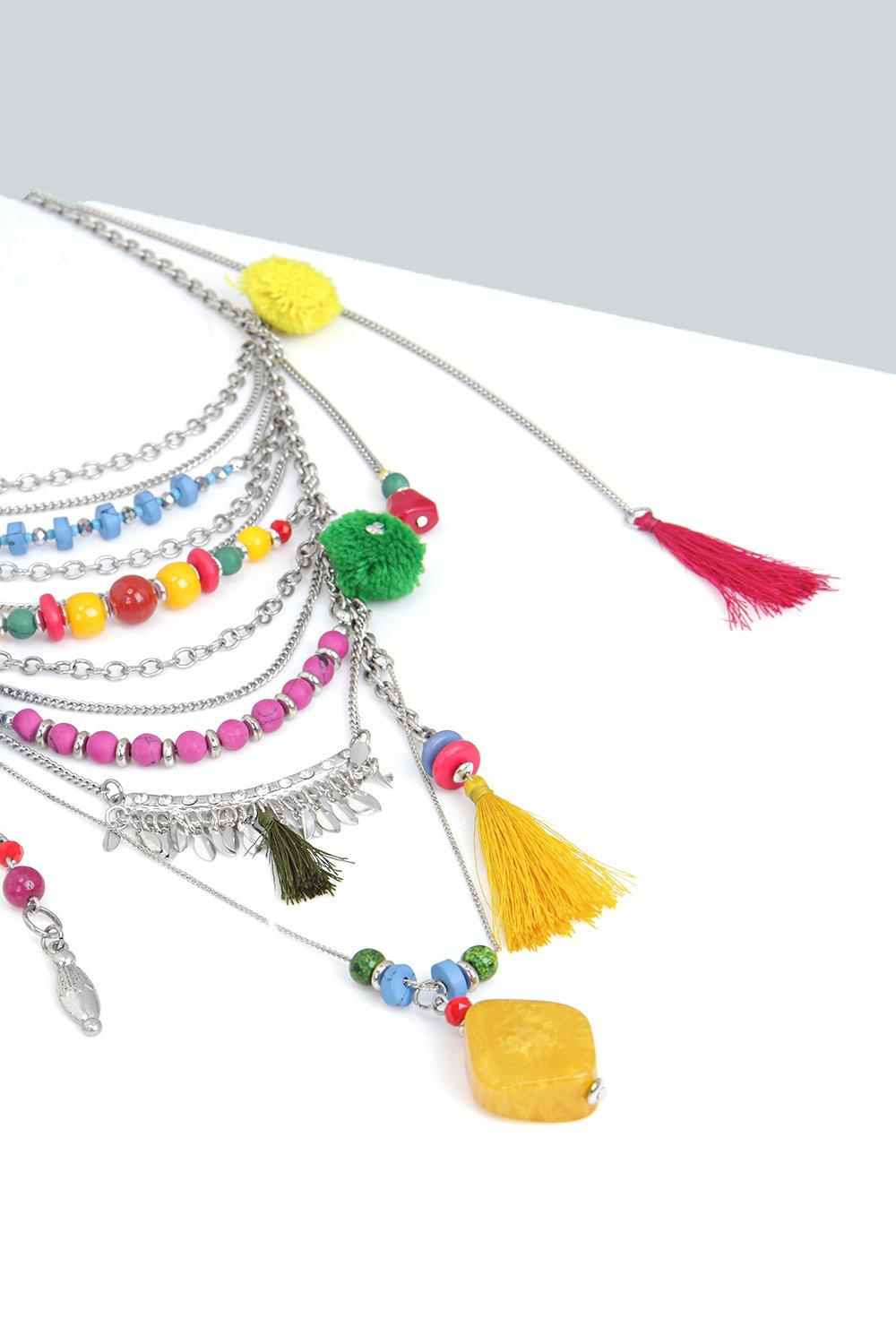 Boohoo Lily Multi Layered Necklace