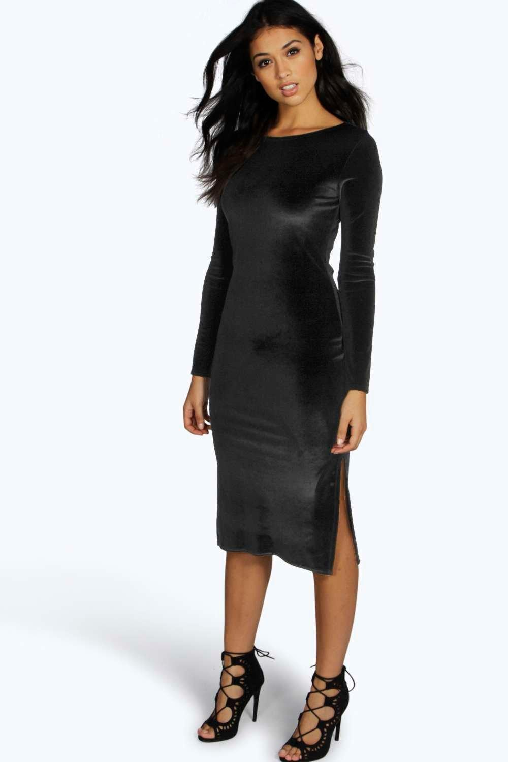Gallery. Previously sold at  Boohoo · Women s Velvet Dresses 505e5bd52