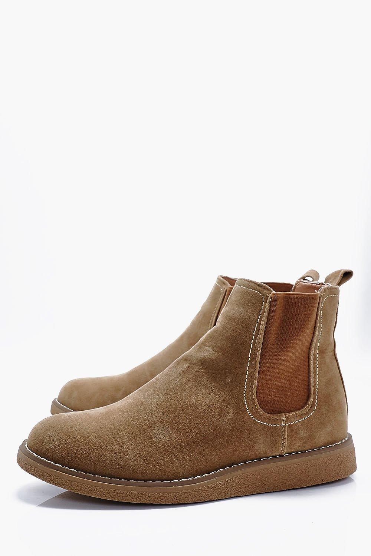 Boohoo Denim Wedge Sole Chelsea Boots