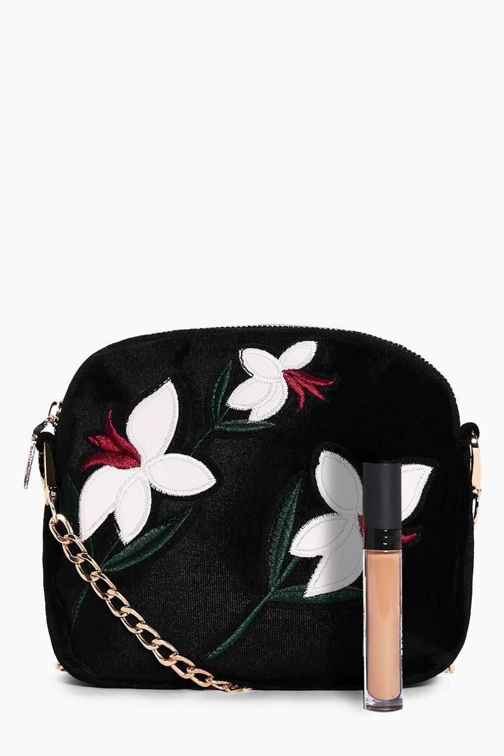 Boohoo Maisie Embroidered Cross Body Bag in White