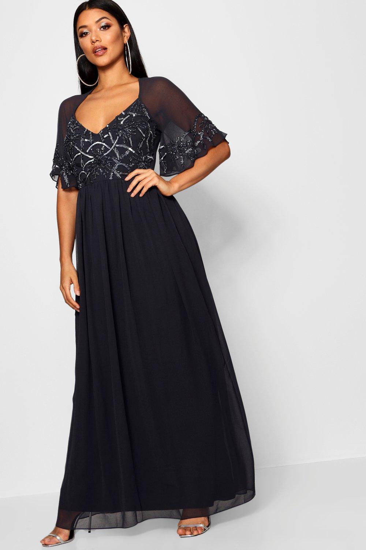 e1dd2625100 Boohoo - Gray Boutique Embellished Maxi Dress - Lyst. View fullscreen