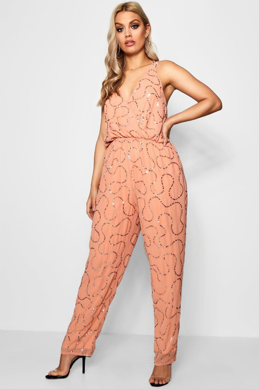 24ec885d58 Boohoo - Multicolor Plus Boutique Sequin Embellished Jumpsuit - Lyst
