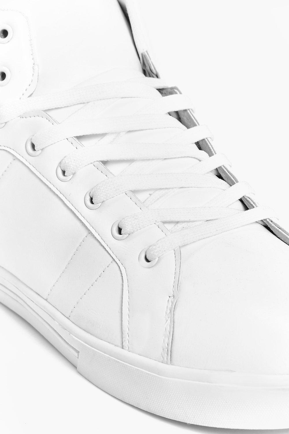 Boohoo Denim High Top Trainers in White for Men