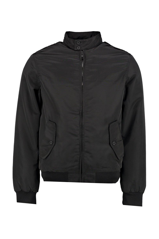 Boohoo Denim Padded Nylon Harrington in Black for Men