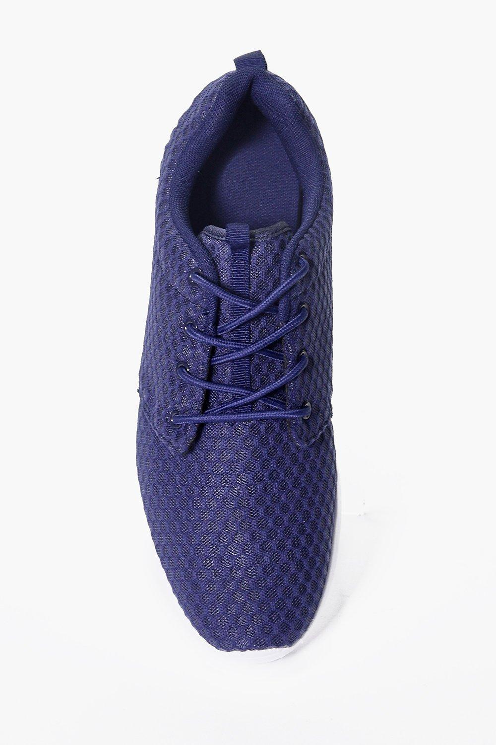 Boohoo Denim Bubble Mesh Summer Trainers in Navy (Blue) for Men