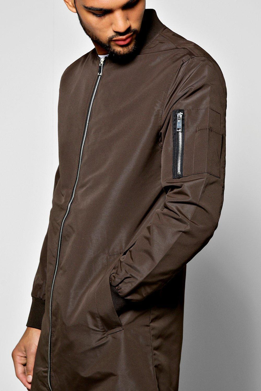 2d8f00437ef Lyst - Boohoo Longline Ma1 Bomber Jacket in Gray for Men