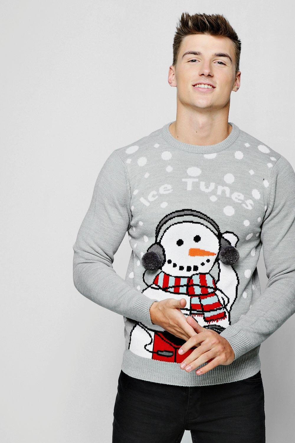 726d4dbd944 Boohoo Ice Tunes Christmas Sweater in Gray for Men - Lyst