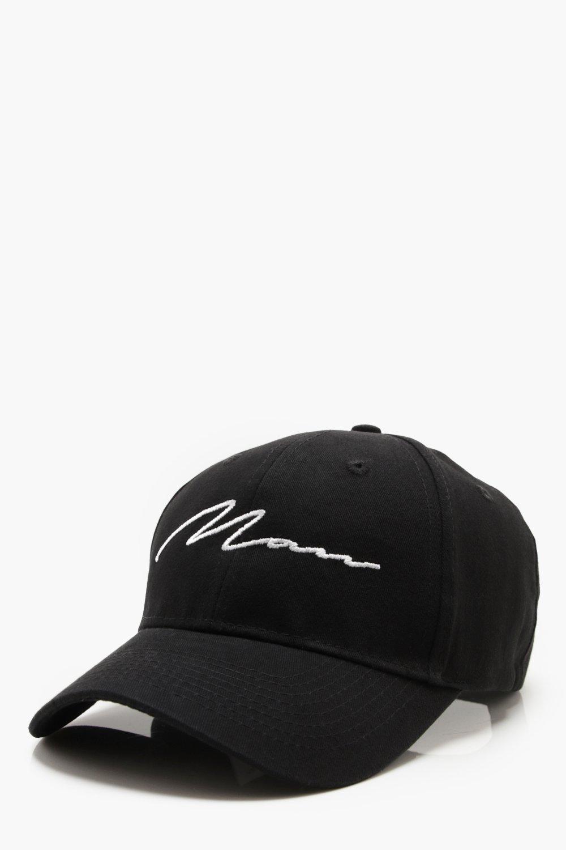 Lyst - Boohoo Man Script Embroiderd Cap in Black for Men 53be7cd86
