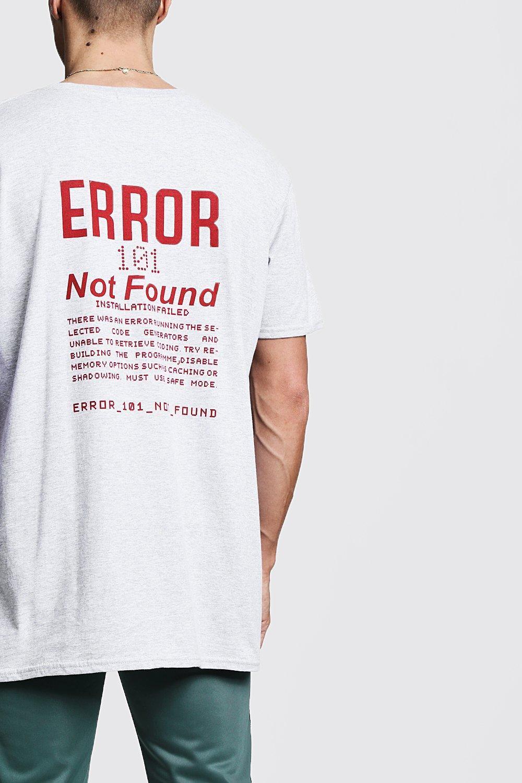 BoohooMAN T-shirt Oversize Imprimé Error in White for Men - Lyst