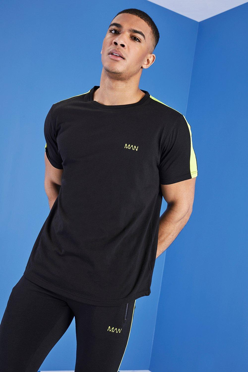 7f784246e Lyst - BoohooMAN Man Gym T-shirt With Curved Hem in Black for Men