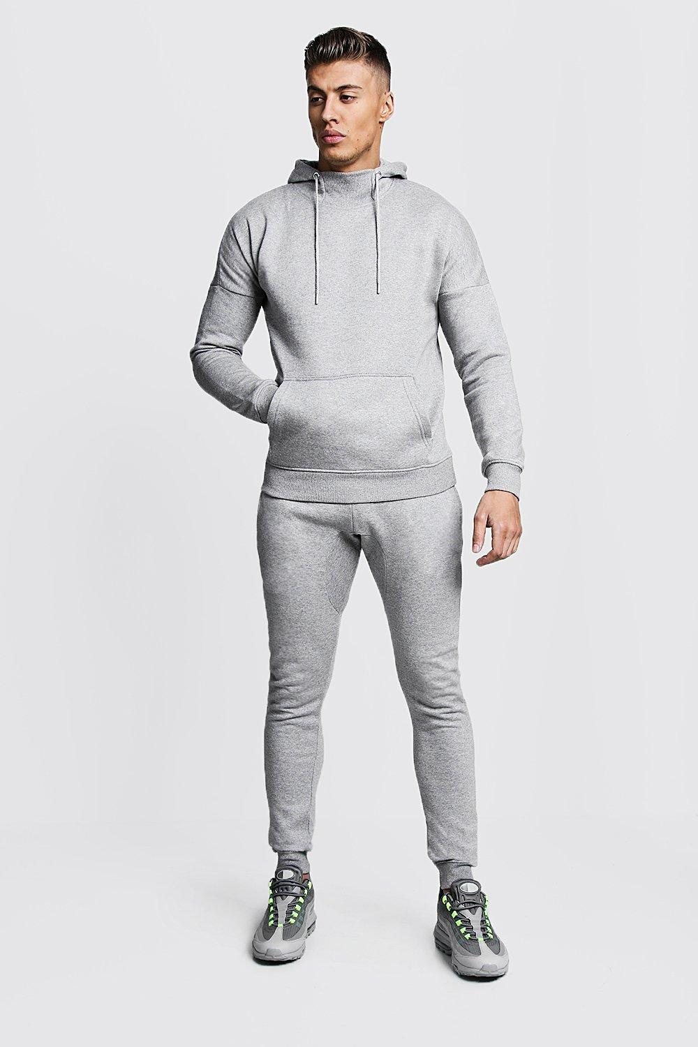 2ebe0c966f7e Lyst - Boohoo Funnel Neck Hooded Tracksuit With Skinny Joggers in ...