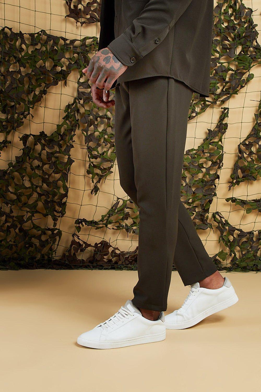 b716c5ba6881 BoohooMAN - Green Plain Smart Jogger Pants for Men - Lyst. View fullscreen
