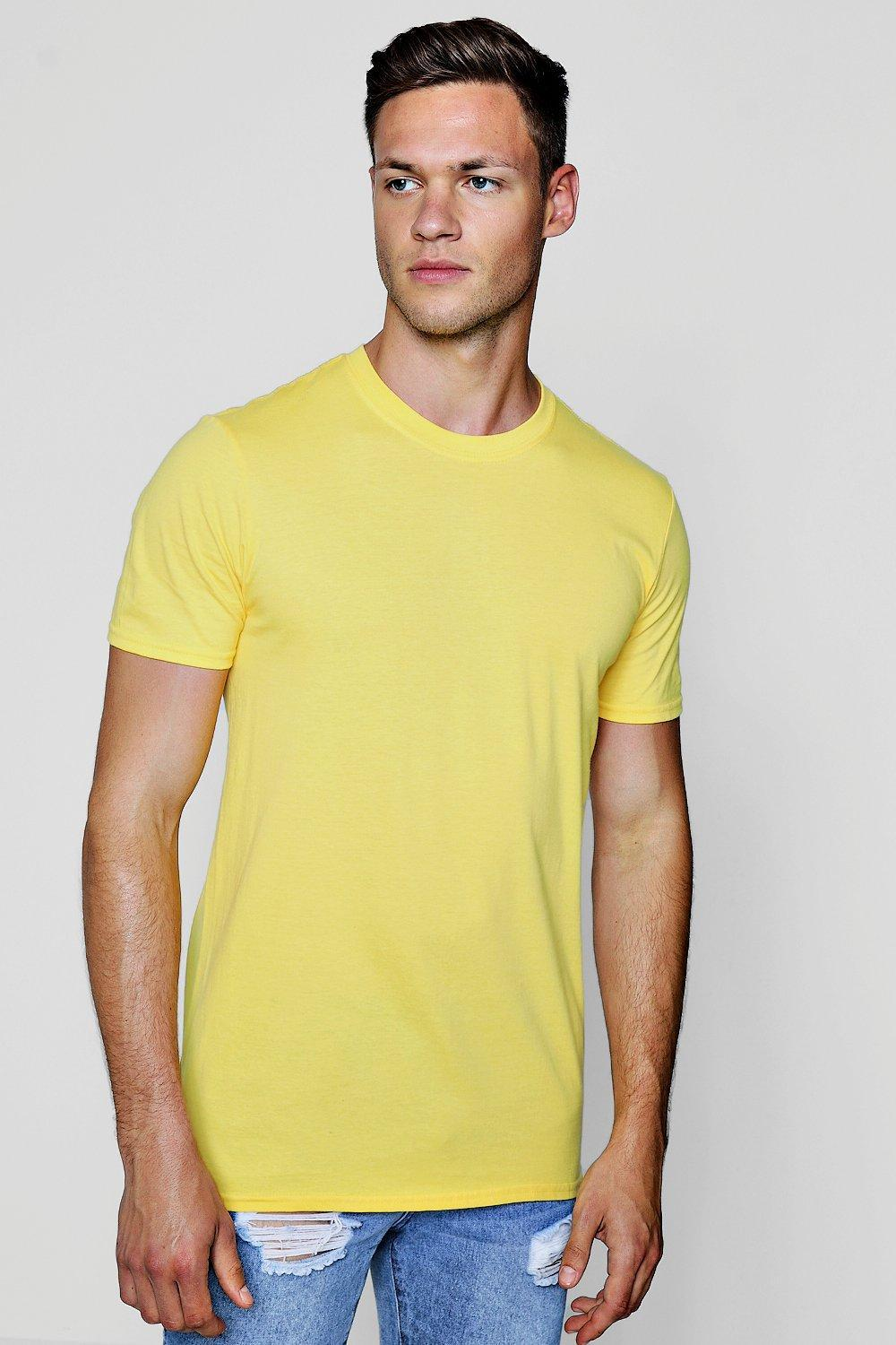748701e9a7 Lyst - Boohoo Good Vibes Printed T-shirt in Yellow for Men