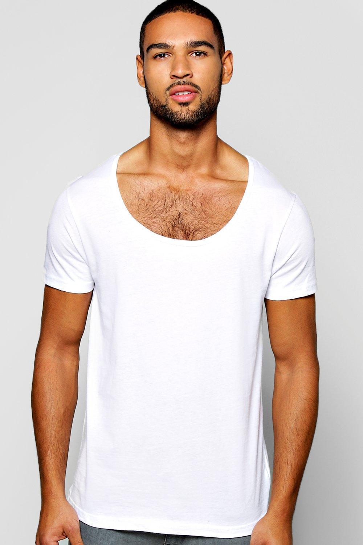 Boohoo Basic Scoop Neck T Shirt In White For Men Lyst