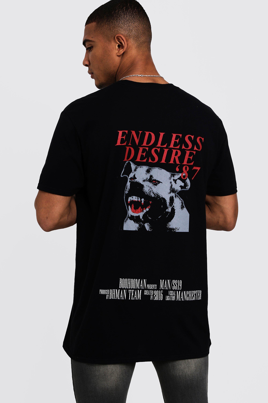 71b2e245b574f BoohooMAN Oversized Man Large Back Print T-shirt in Black for Men - Lyst