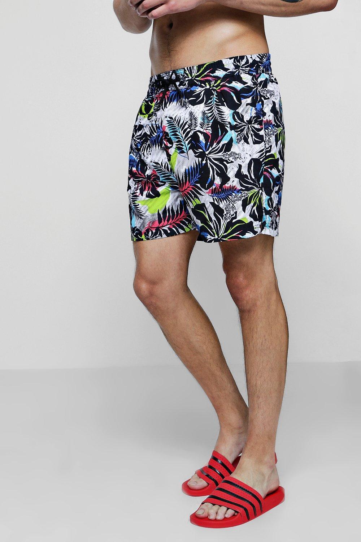 edff227637b44 Boohoo Floral Print Swim Short in Blue for Men - Lyst