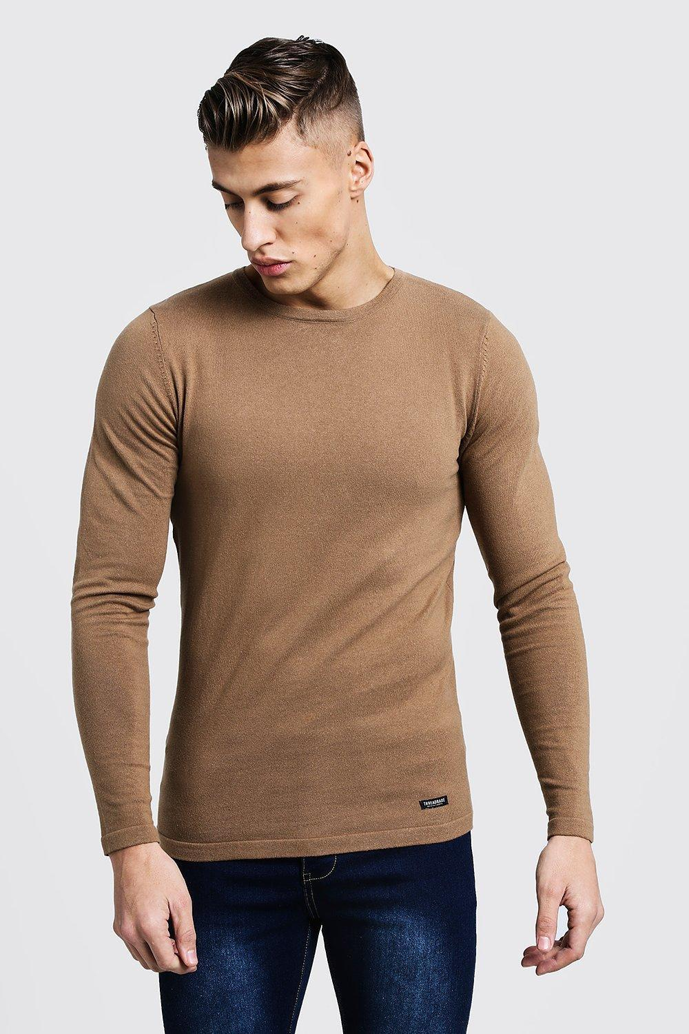9605def8 BoohooMAN Muscle Fit Knitted Jumper for Men - Lyst