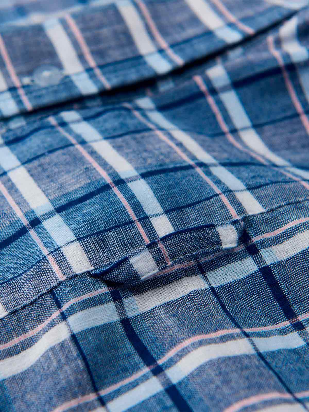 GANT Cotton O2. Blue Pack Madras Xslim Bd for Men