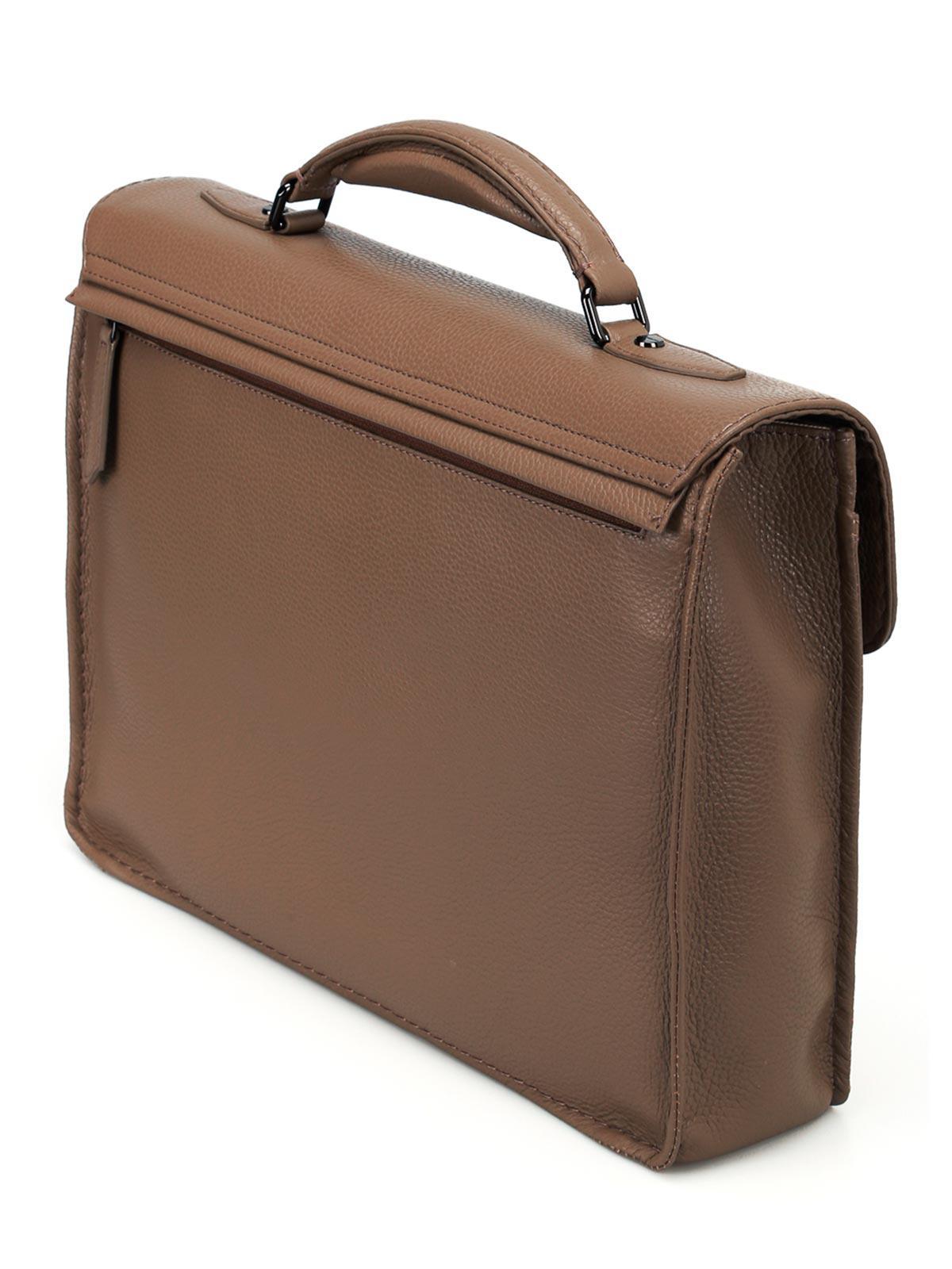 Zanellato Mestro Dollarone taupe briefcase iAQNfax1bX