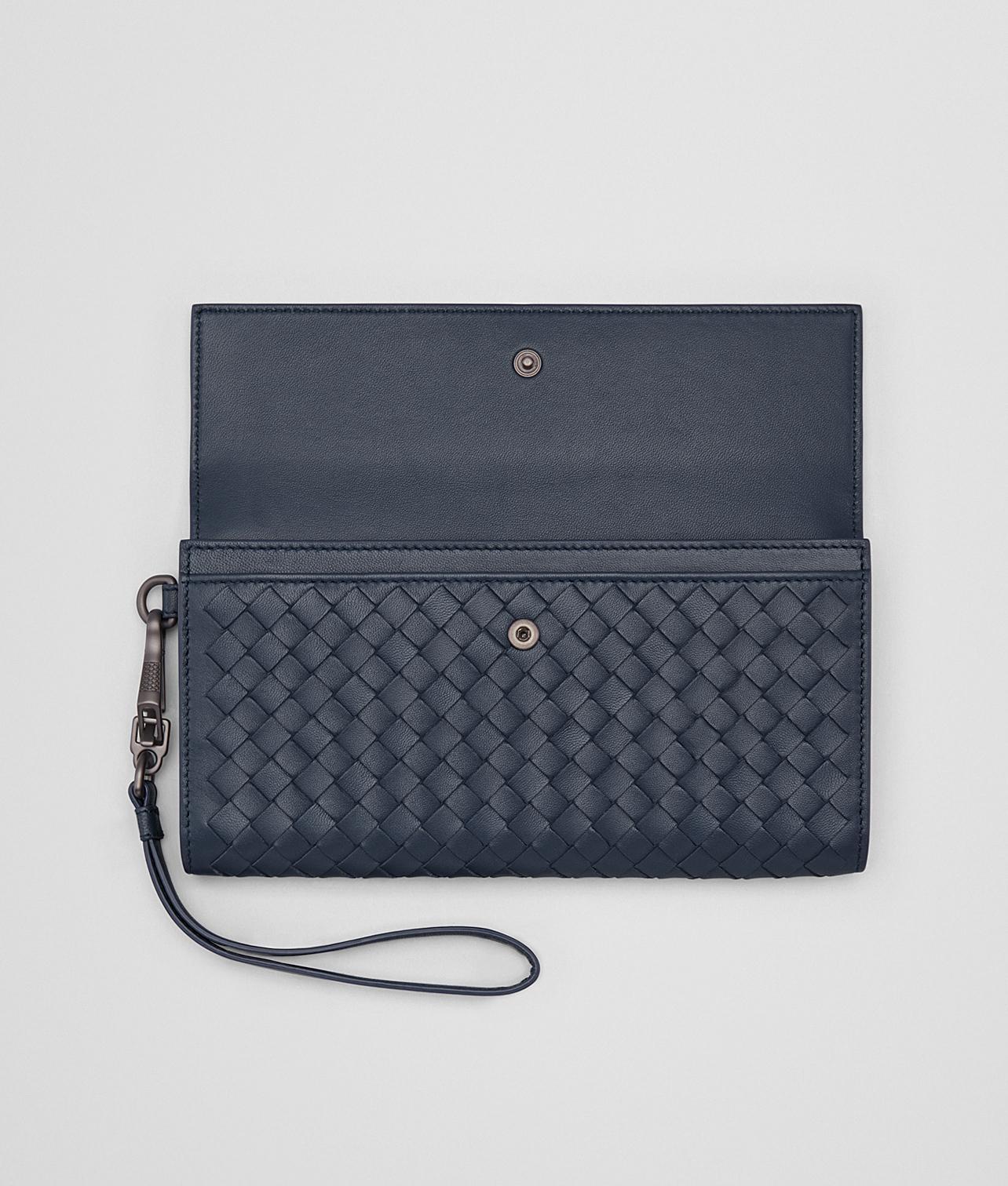 denim Intrecciato nappa continental wallet - Blue Bottega Veneta SByhoj9