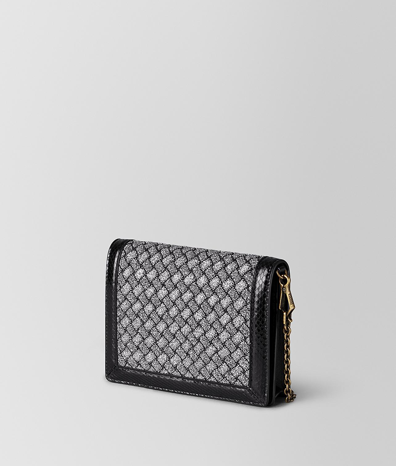 2f1991f160 Bottega Veneta Chain Wallet In Intrecciato Knitted And Ayers - Lyst