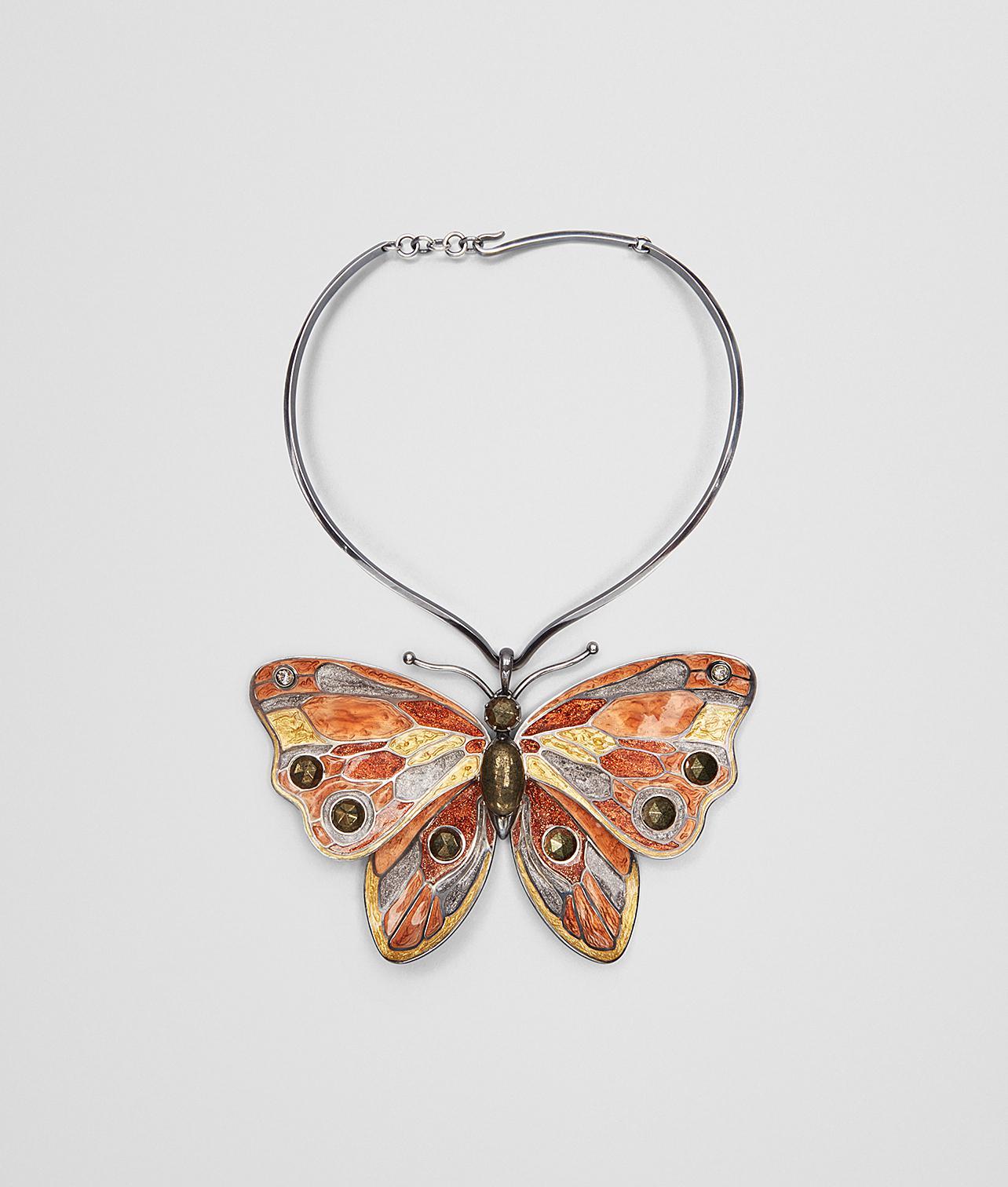 enamelled butterfly earrings - Metallic Bottega Veneta p3kgZNsl